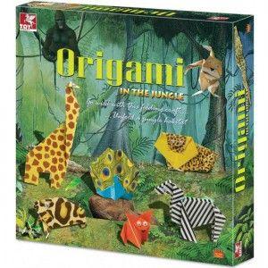 """ΚΑΤΑΣΚΕΥΗ ORIGAMI """"IN THE JUNGLE"""" Πρόκειται για μια χειροτεχνία οριγκάμι με την οποία θα μπορείτε να δημιουργήσετε μια μικρή ζούγκλα με διάφορα ζώα για το δωμάτιο σας από χαρτί. Η συσκευασία περιέχει: 42 πολύχρωμα χαρτιά, 5 φύλλα για το φόντο της ζούγκλας, 1 μαρκαδόρο, 1 κόλλα και 1 φύλλο οδηγιών με τα σχέδια βήμα προς βήμα."""