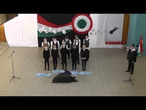 Gyarmati Dezső Sport Általános Iskola 7.s. osztály Március 15-ei műsora - YouTube