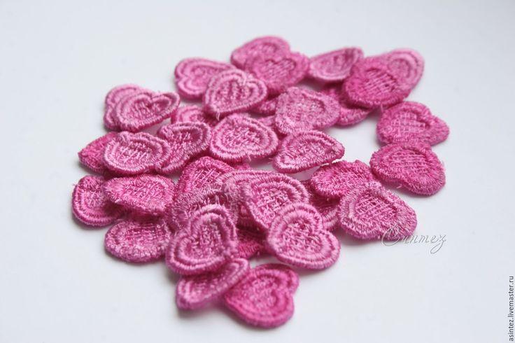 Купить вышивка, кружево, аппликация ажурная, маленькое кружевное сердце - для ремонта одежды, нашивка аппликация