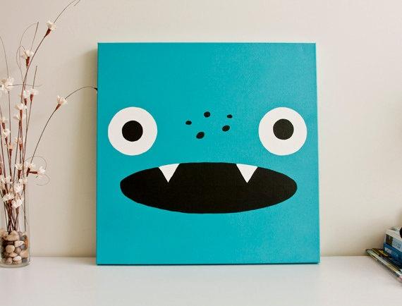 Monster paintings. Cute and simple.