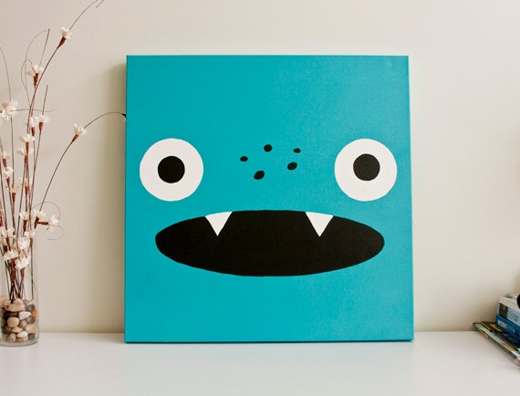 Monster paintings. Cute and simple.