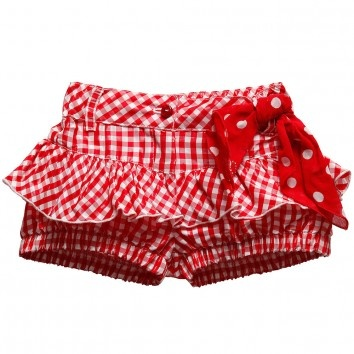 Red gingham shorts
