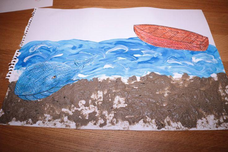 Zee, zand en boot De kleine walvis