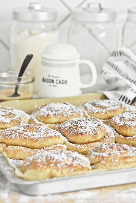 Rezept für norwegische Zimtschnecken - Skillingsboller selber backen - Süßes aus Norwegen   norwegian cinnamon buns recipe   luziapimpinella.com