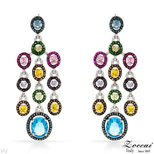 Earring - L BY #ZOCCAI Mixed Stones Sterling Silver #Earrings $205