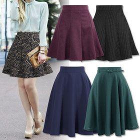 Gmarket - Patterned skirt / flare / A-line / high waist / lace /...