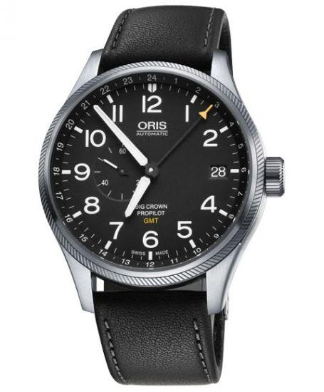 オリス ビッグクラウン プロパイロット スモールセコンド GMT 748 7710 4164DC (カーフ/ブラック) 腕時計 メンズ 自動巻 Oris - IDEAL