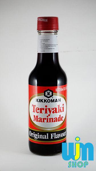 Kikkoman Teriyaki Marinade - Original Flavour Kemasan: Botol Kaca Isi: 250 ml Berat: 500gram Bahan: lihat kemasan botol  Ongkos kirim di  x 2 dengan berat pesanan karena mesti di packing kayu agar menghindari barang pecah  Minat: SMS/WA: 08996752411 PIN BB: 57EE3E90 WEB: http://wjmshop.com/kikkoman-teriyaki-marinade/