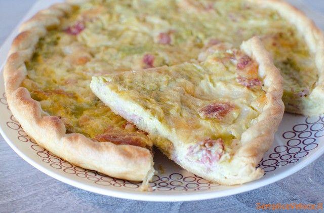Torta salata verza e speck: è veloce da preparare, se usate la pasta brisè a basso contenuto di colesterolo non è nemmeno troppo grassa...:-)