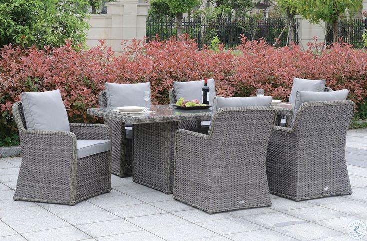 Beachcroft Beige Rectangular Outdoor Dining Set in 2020 ... on Beachcroft Beige Outdoor Living Room Set id=16420