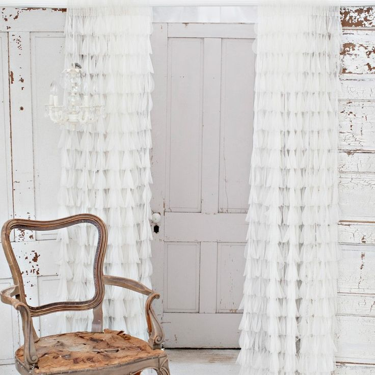 In love with these ruffled curtains