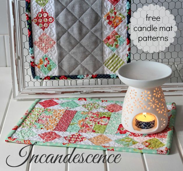 Threadbare Creations- Incandescence Free Candle Mat Patterns