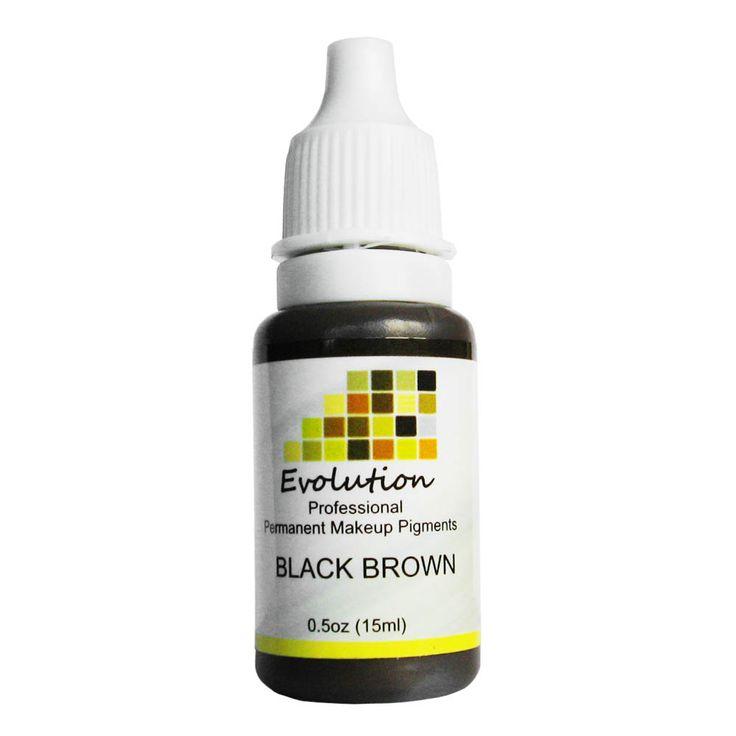 Permanent Eyebrow Lip Eyelash Makeup Pigment 1/2OZ 15ML Black Brown A Tattoo Ink Set Micro Pigment Tattoo Supplies
