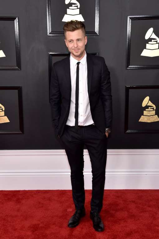2017 Grammy Awards:     Ryan Tedder of music group OneRepublic attends The 59th GRAMMY Awards at STAPLES Center in Los Angeles on Feb. 12, 2017.