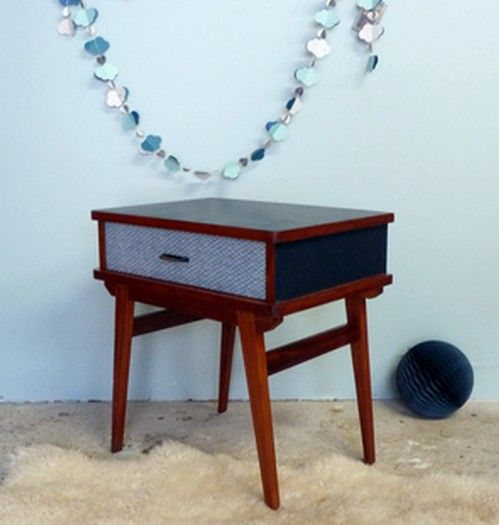 25 best images about meubles vintages relook s dans les tons de bleu on pinterest. Black Bedroom Furniture Sets. Home Design Ideas