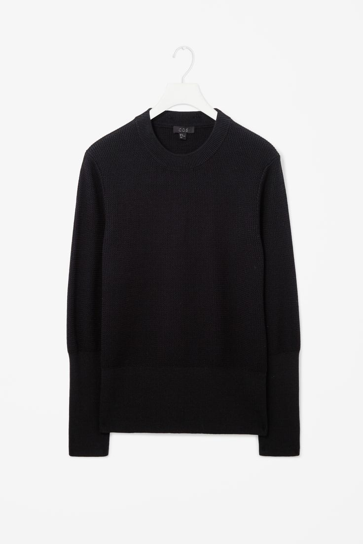Contrast knit jumper
