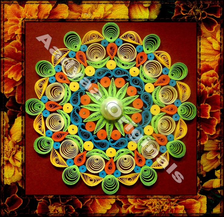 Quilling Me Softly: Happy Pongal - Quilled Kolam :)