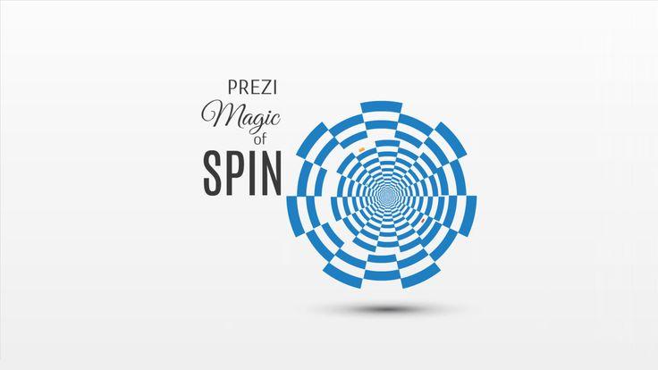 Prezi template Magic of spin 3D spiral movement http://preziland.com/