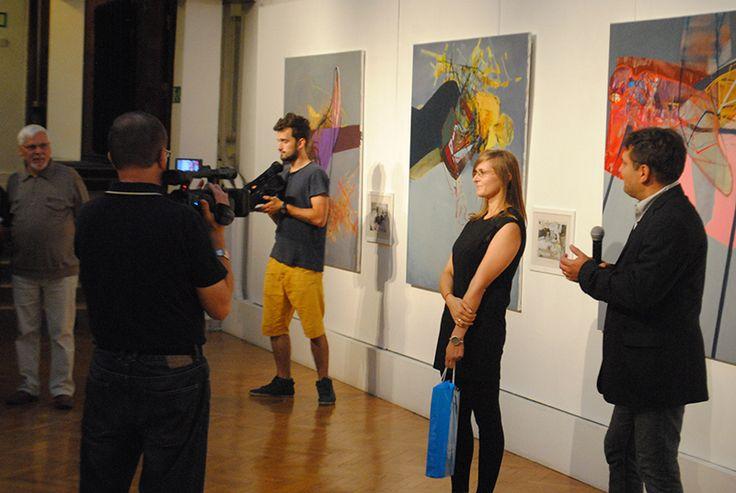 with curator - Gustaw Nawrocki