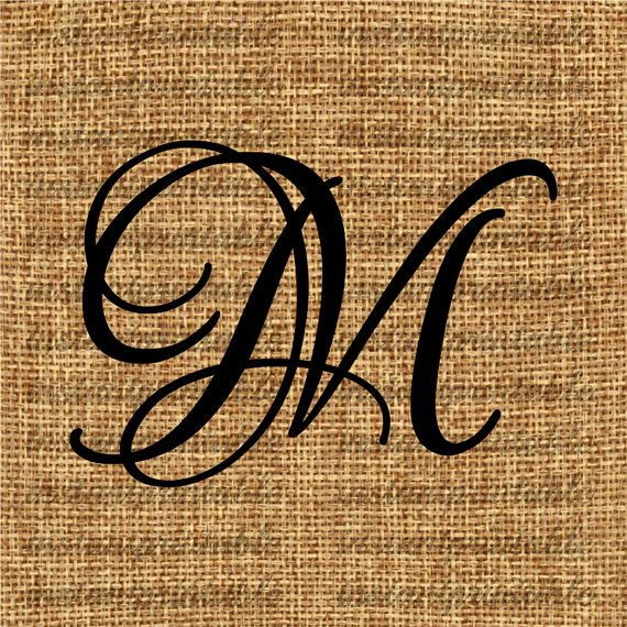 Monogram  Initial Letter M Letter Clip Art by InstantPrintable, $1.80