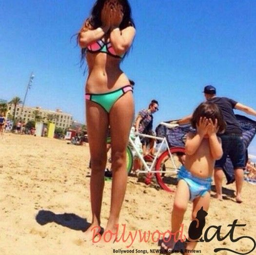 When Shahrukh Khan's daughter Suhana Khan seen in Bikni with Abram