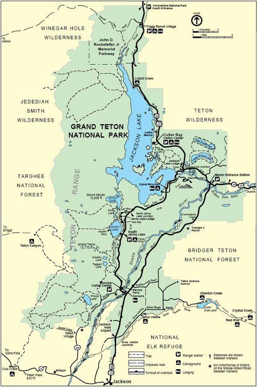 Grand Teton Overview Map These Complex Mountains Are The Home To