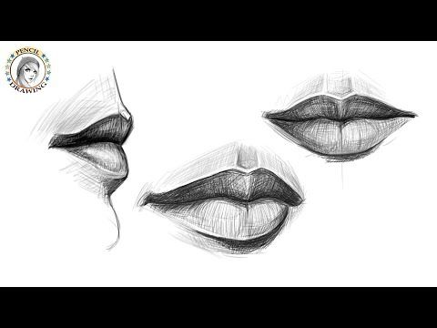 Draw The Mouth From Different Angles رسم الفم من زوايا مختلفة Youtube Pencil Drawings Realistic Drawings Art Drawings