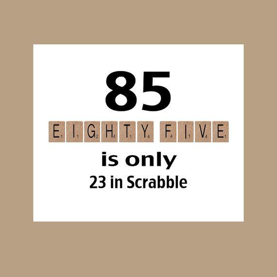 85th Birthday Card 85th Birthday Milestone by DaizyBlueDesigns