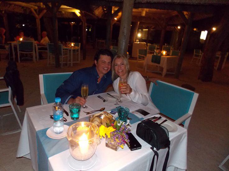 honeymoon dinner - the Garcia's