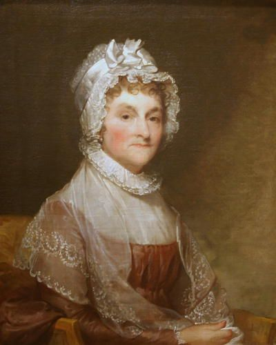 2. Abigail Adams -   The mother of the sixth U.S. president John Quincy Adams, Abigail was the first first lady to live in the White House when she moved into the then-unfinished mansion in November 1800.