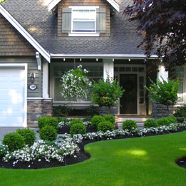 Simple landscaping ideas front of house for Simple landscape ideas for front of house