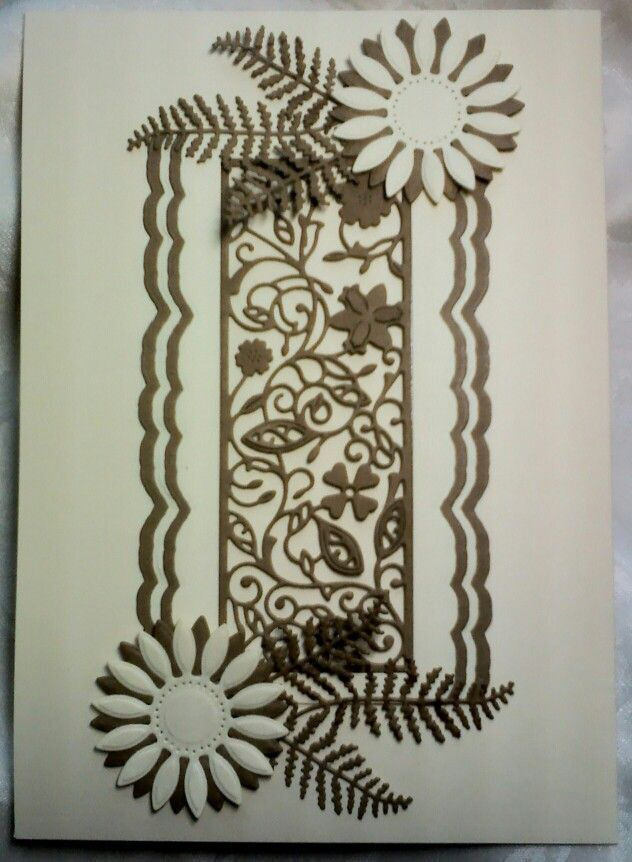 tattered lace Floral Panel Die - Google Search