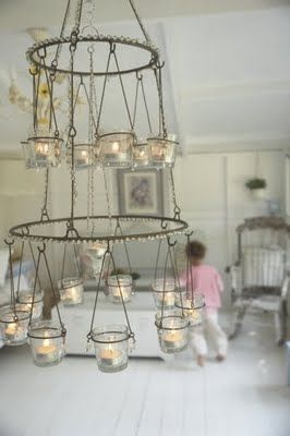 Must have a votive candle chandelier