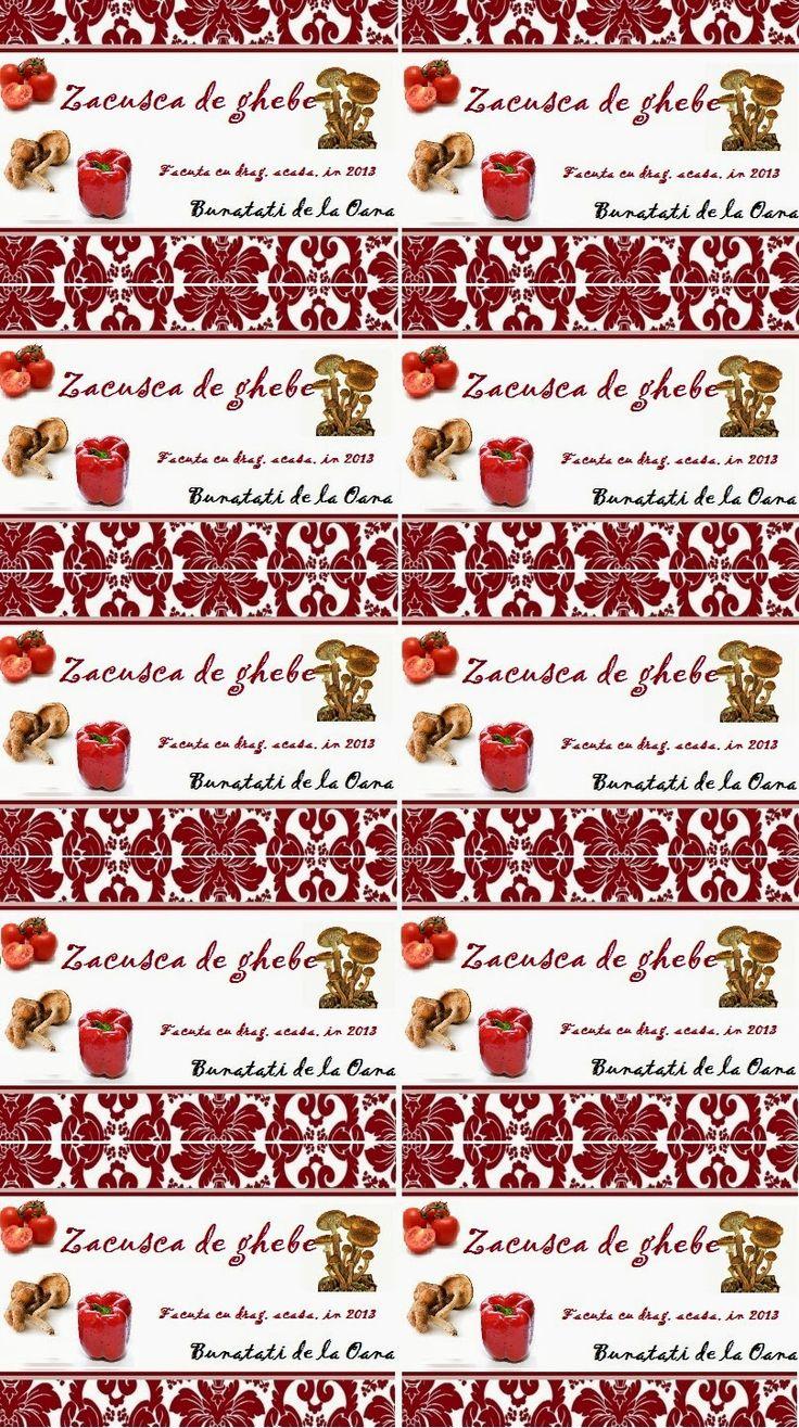 Etichete borcane - zacusca de ghebe