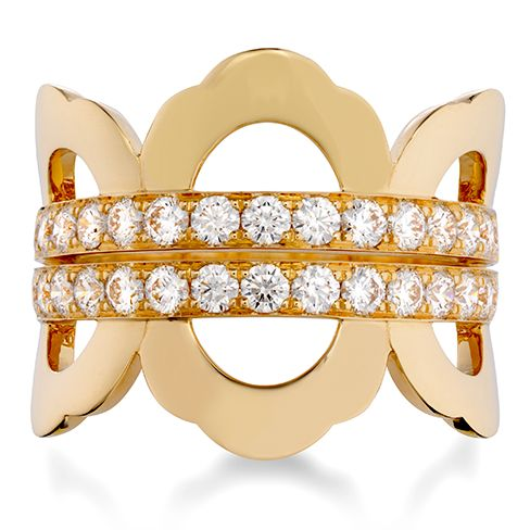 Lorelei Right Hand Ring (available in 18k Rose, White and Yellow Gold)  #diamonds #LoreleiCollection | heartsonfire.com