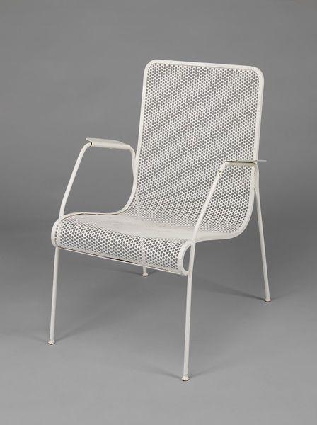Andrew John Milne; Enameled Metal Armchair for Heal & Son, 1951.