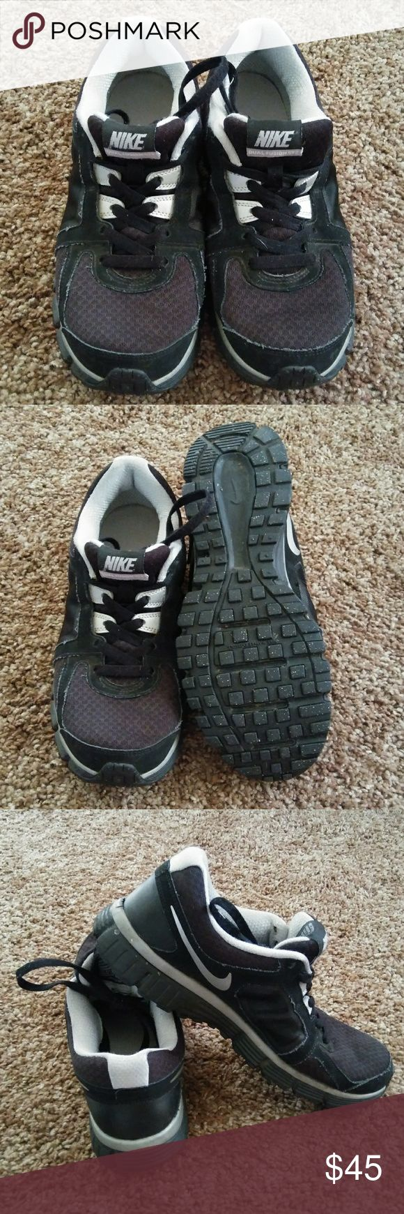Nike Dual Fusion ST2 Running Shoes Good used condition Nike Dual Fusion ST running shoes Size 9 men's Black & grey  **Bundle to save on shipping   **Cat friendly, smoke free home Nike Shoes Athletic Shoes