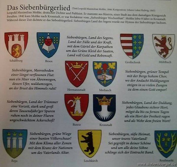 Siebenbürger-Lied mit Wappen