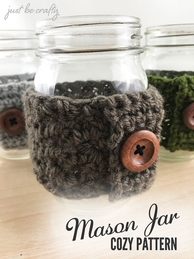 Hello, hello!  I have a brand spanking new pattern to share with you today, the Mason Jar Cozy Pattern!  My husband has actually been requesting these for a while now and I finally sat down and put…