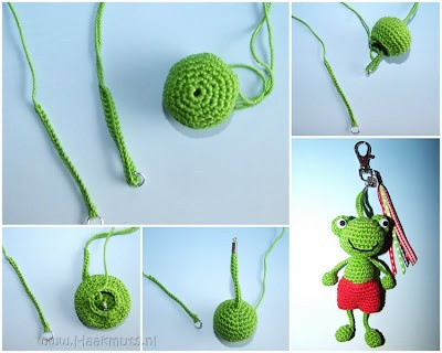 Tip for attaching key fob crochet ♡ Teresa Restegui http://www.pinterest.com/teretegui/ ♡