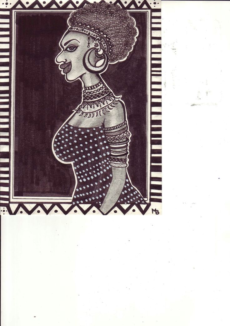 African woman by Mad.Madlene Art
