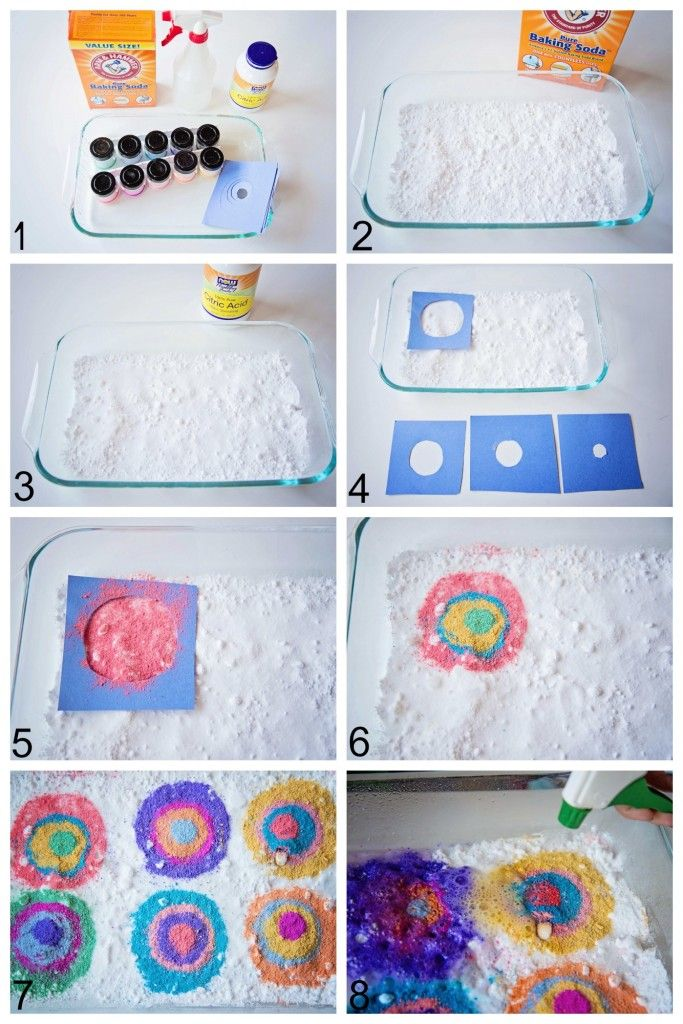 Kandinsky Citric Fizz | Life Lesson PlansGather your materials: baking soda, citric acid, water in a spray bottle or with pipettes, and coloring: