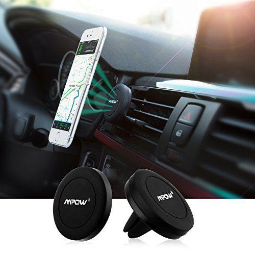Support téléphone voiture Mpow Grip Magic Air Vent + Stick sur tableau de bord plat, Universal Magnetic, Aimanté Universel , compatible…