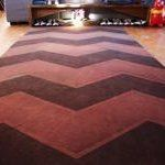 Before & After: Spray Painted Chevron Carpet | Apartment Therapy