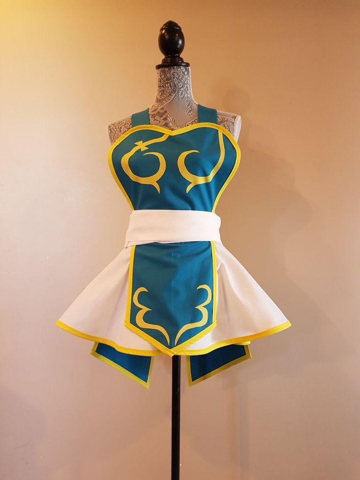 Chun Li Apron - Cosplay Apron by AriaApparel on Etsy https://www.etsy.com/listing/475642590/chun-li-apron-cosplay-apron