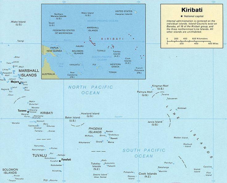 Kiribati map LOC.//A map of Kiribati.
