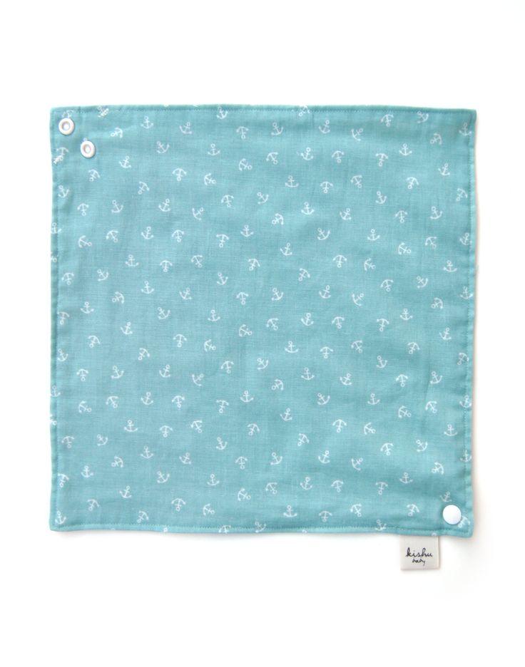 Reversible bib – 100% cotton muslin – 8 layers gauze as a bib, 4 layers gauze as a wipe cloth + hand towel