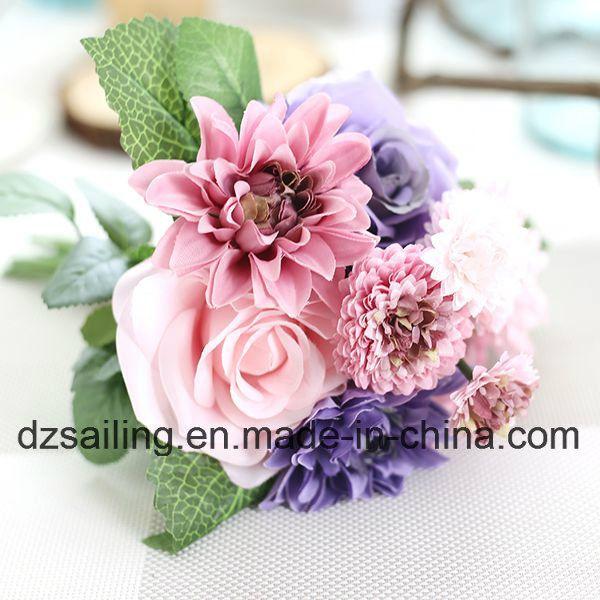 High Quality Artificial Flower of Rose and Dahlia Bouquet (SF15538)