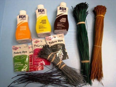 How to dye your own pine needles ~ Featuring Miriam Joy www.miriamjoy.com