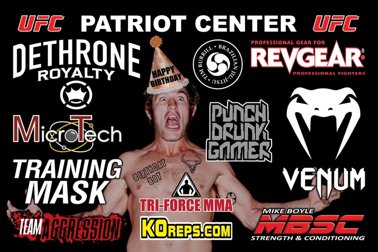"""Filthy"" Tom Lawlor fight banner design for UFC on Fuel, May 15th. Yes, this is also his birthday! #MMA"